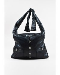 3d70e7e7a8fa Chanel - 1 Black Lambskin Leather Silver Tone