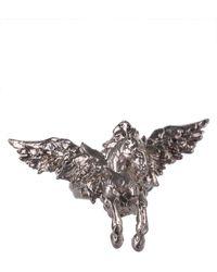 Roberto Cavalli - Silver Metal Open Back Soaring Horse Ring - Lyst