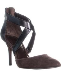Enzo Angiolini - Coadi Ankle Strap Court Shoes, Black/brown - Lyst