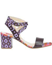 Lisa Corti - Women's Multicolor Canvas Sandals - Lyst