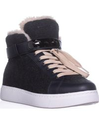 COACH - Richmond Fleece Lined High Top Fashion Sneakers, Heathered Dark Gray - Lyst