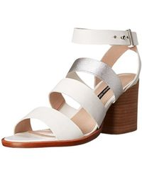 French Connection - Womens Ciara Leather Open Toe Casual Ankle Strap Sandals - Lyst