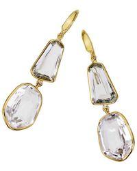 Jewelista - 18k Vermeil, Quartz & Amethyst Drop Earrings - Lyst