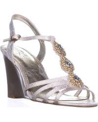 Adrianna Papell - Kristen Wedge Dress Sandals, Pearl Wave Metallic - Lyst