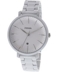 Fossil - Women's Jacqueline Es4397 White Stainless-steel Japanese Quartz Fashion Watch - Lyst