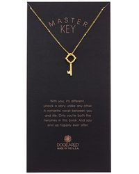 Dogeared - Halo Collection Master Key 14k Over Silver Necklace - Lyst