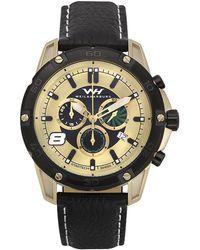 Weil & Harburg - Huxley Swiss Chronograph Men's Watch Screw Down Crown Genuine Leather Strap - Lyst