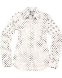 The Shirt - The Icon Shirt In Black And White Dots - Lyst