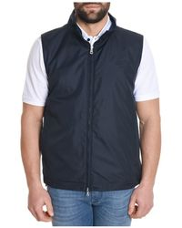Paul & Shark - Men's Blue Polyester Vest - Lyst