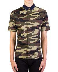 Dior - Homme Men's Camouflage Short Sleeve Cotton Dress Shirt Blue - Lyst