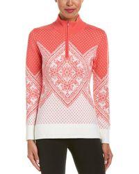 Obermeyer | Cate 1/4-zip Wool-blend Jumper | Lyst