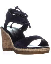 f574b5d9d18 Lyst - Paul Green Womens Melissa Suede Cork Wedge Sandals in Brown