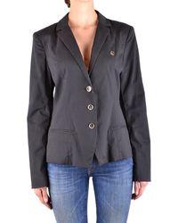 Armani Jeans - Women's Black Cotton Blazer - Lyst