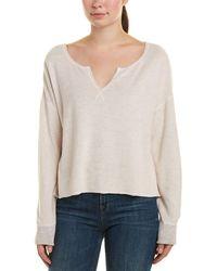 Three Dots - Terry Cloth Sweatshirt - Lyst