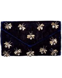 San Diego Hat Company - Women's Velvet Clutch With Bug Details Bsb3547 - Lyst