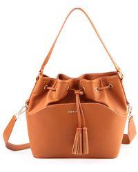Suzy Levian - Tassle Drawstring Bucket Handbag - Lyst
