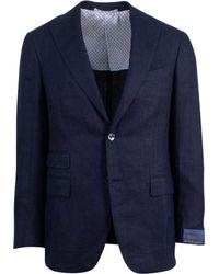 Pal Zileri - Sartoriale Blue Linen 2 Button Sport Coat - Lyst