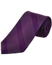 Cole Haan - Purple Kinsman Stripe Silk Tie - Lyst