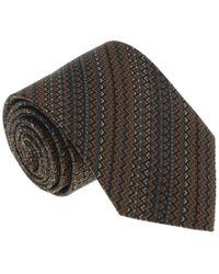 Missoni - U5059 Orange/gray Chevron 100% Silk Tie - Lyst