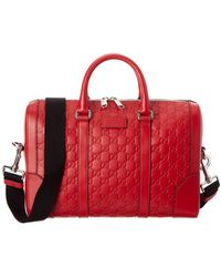 Gucci - Red Ssima Leather Briefcase - Lyst