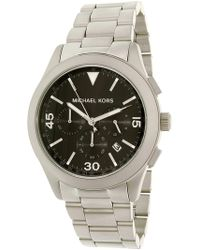 f2491cf921ef Michael Kors - Men s Gareth Mk8469 Silver Stainless-steel Quartz Fashion  Watch - Lyst