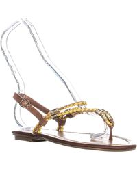 Chinese Laundry - Cl Clementina Thong Sandals, Tan/yellow - Lyst