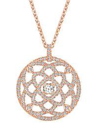 Swarovski - Crystal Daylight 18k Rose Gold Necklace - Lyst