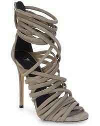 67108ddad59887 Lyst - Giuseppe Zanotti Alien 115 Pl Siutta Women Open Toe Leather ...
