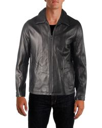 Vince Camuto - Mens Fall Leather Bomber Jacket - Lyst