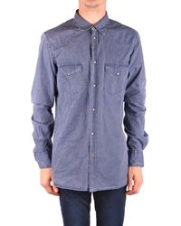 Dondup - Men's Mcbi100155o Blue Cotton Shirt - Lyst