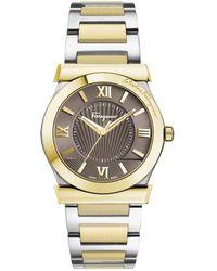 Ferragamo - Women's Vega Two-tone Bracelet Watch, Model: Fi0900016 - Lyst