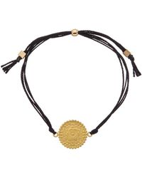 Dogeared - Mandala Collection Gratitude 14k Over Silver Adjustable Bracelet - Lyst