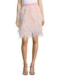 Lea & Viola - Feather Pull-on Skirt - Lyst