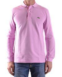 Lacoste - Men's Mcbi341008o Pink Cotton Polo Shirt - Lyst