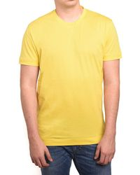 Ermenegildo Zegna - Z Zegna By Men Double Collar T-shirt Yellow - Lyst