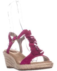 Giani Bernini - Gb35 Sallee Wedge Sandals, Fuchsia - Lyst