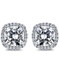 Diana M. Jewels - 18k White Gold Stud Earrings With 0.50 Carat Of Total Diamond Weight - Lyst