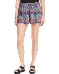 Ella Moss - Womens Kaliso Patterned Drawstring Casual Shorts - Lyst