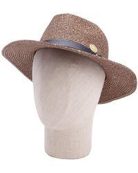 La Fiorentina - Classic Belt Trim Straw Hat - Lyst
