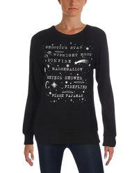 f1aae7eeb6 David Lerner - Womens Midnight Graphic Ribbed Trim Crewneck Sweater - Lyst