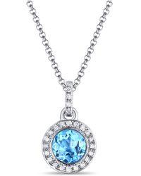 Diana M. Jewels - Blue Topaz Pendant - Lyst