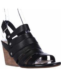 Naya | Lassie Strappy Wedge Sandals - Black | Lyst