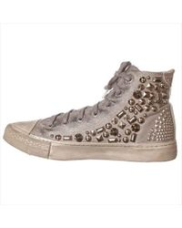 Studswar - Womens Cleo Hight Top Lace Up Fashion Trainers - Lyst
