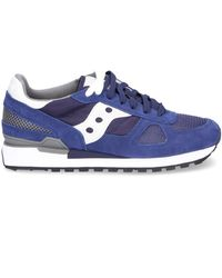 Saucony - Men's Blue Suede Sneakers - Lyst