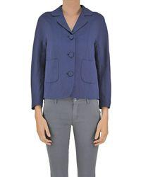 Seventy - Women's Blue Modal Blazer - Lyst
