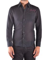 Frankie Morello - Men's Black Cotton Shirt - Lyst