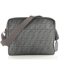 3468087e159e Fendi - Pre Owned Front Pocket Messenger Bag Zucca Coated Canvas Large -  Lyst