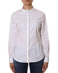 Peserico - Women's White Cotton Shirt - Lyst