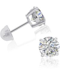 Amanda Rose Collection - 4ct Tw Sterling Silver Stud Earrings Made With Swarovski Zirconia - Lyst