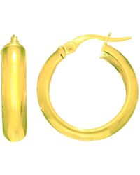 Jewelry Affairs - 14k Yellow Gold Domed Hoop Earring, Diameter 20mm - Lyst